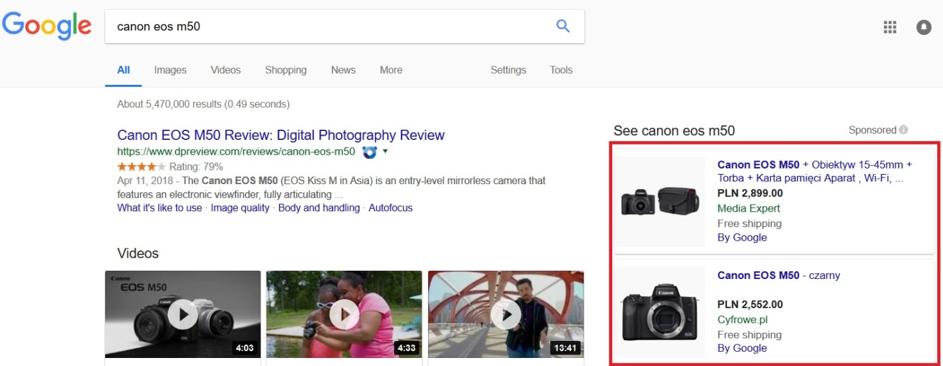 Google rozlicza się wsystemie PPC wprzypadku linków sponsorowanych