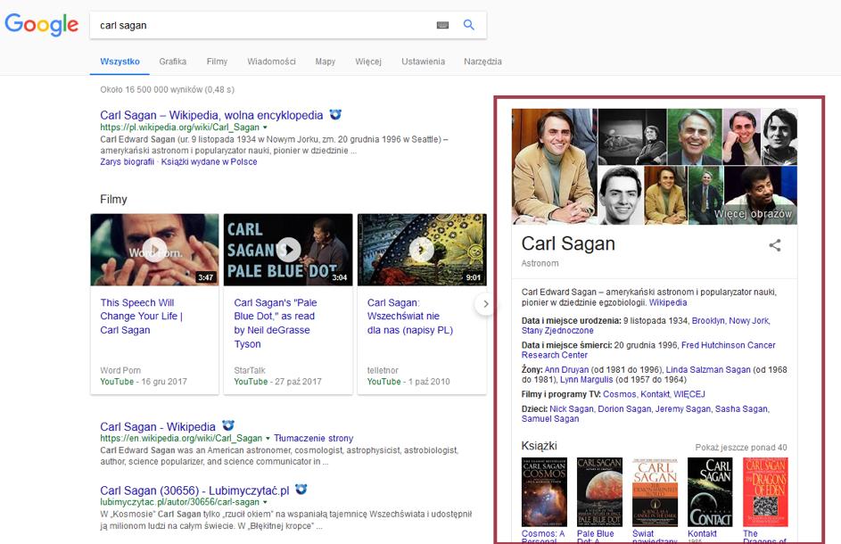 Graf Wiedzy to specjalny system Google