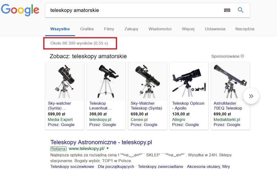 Indeks wyszukiwarki to jej baza danych