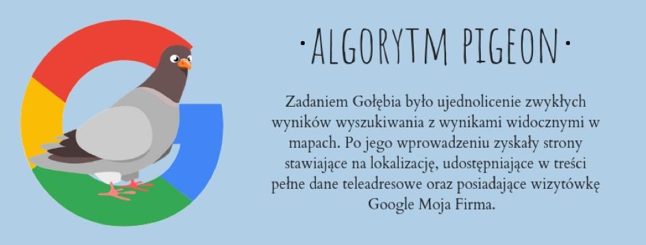 Pigeon, popolsku Gołąb, to algorytm Google