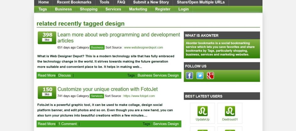 Przykładowymi social bookmarking sites