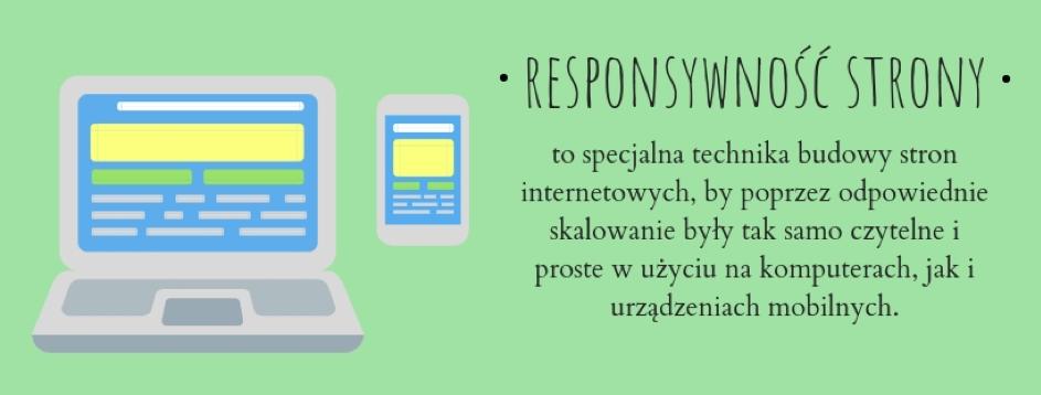 Responsywność strony internetowej oznacza jej dostosowanie