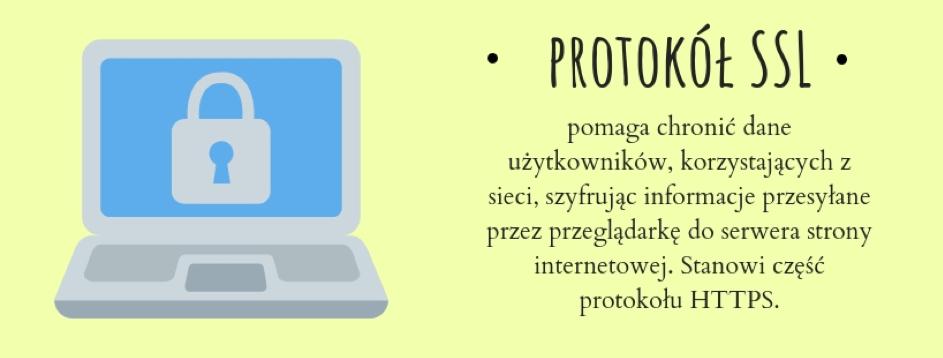 SSL, czyliSecure Socket Layer, to specjalny protokół, którego głównym zadaniem jest zapewnienie bezpieczeństwa danych