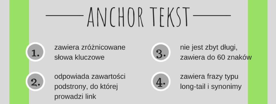 Wybór odpowiedniego anchor tekstu ma duże znaczenie dlapodlinkowanej strony internetowej